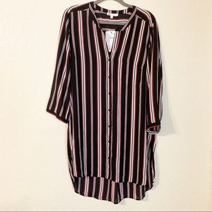 DR2 by Daniel Rainn striped high low tunic NWT